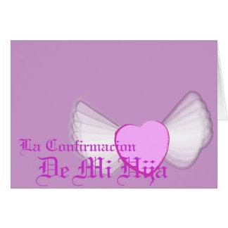 El Confirmación-Personalizar de mi hija Felicitacion