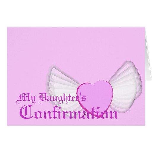 El Confirmación-Personalizar de mi hija Felicitación