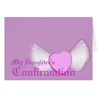 El Confirmación-Personalizar de mi hija Tarjetón