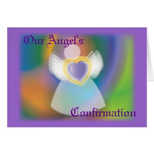 El Confirmación-Personalizar de nuestro ángel Tarjeton