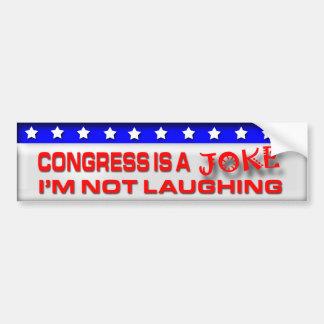 El congreso es un chiste pegatina para coche