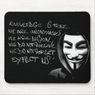 El conocimiento anónimo es Mousepad libre Tapete De Ratones