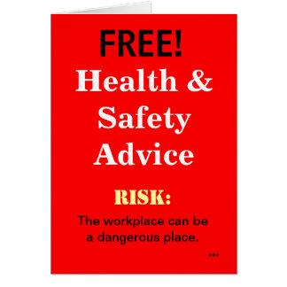 El consejo divertido libre de salud y de seguridad tarjeta de felicitación
