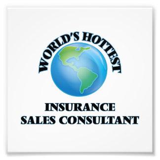 El consultor más caliente de las ventas del seguro impresiones fotográficas