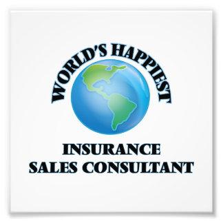El consultor más feliz de las ventas del seguro fotografía