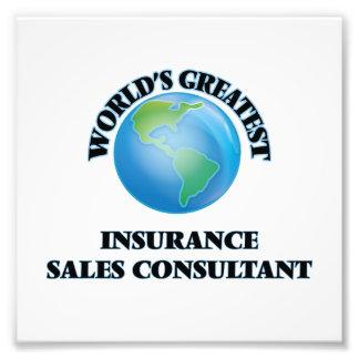 El consultor más grande de las ventas del seguro impresion fotografica