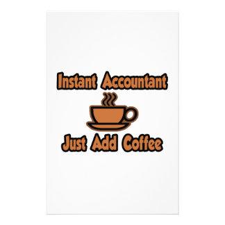 El contable inmediato… apenas añade el café papeleria personalizada