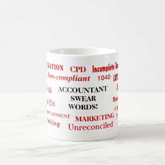 ¡El contable jura palabras! Términos groseros de Taza De Café