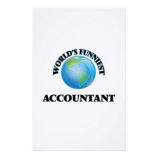 El contable más divertido del mundo papelería personalizada