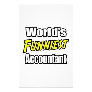 El contable más divertido del mundo papeleria de diseño