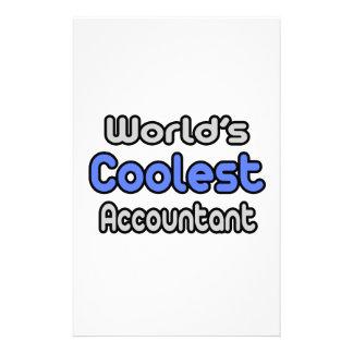 El contable más fresco del mundo papelería de diseño