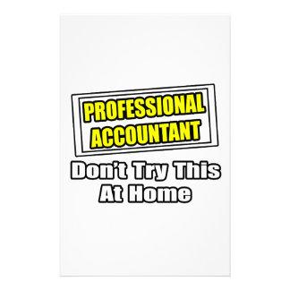El contable profesional… no intenta esto en casa papelería personalizada