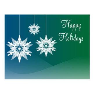 El copo de nieve adorna las postales del día de