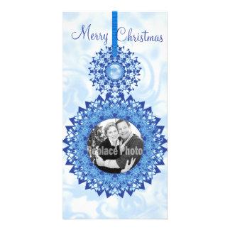 El copo de nieve de las Felices Navidad adorna la Tarjeta Personal