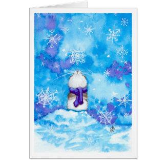 El copo de nieve del hámster que piensa en usted c felicitaciones