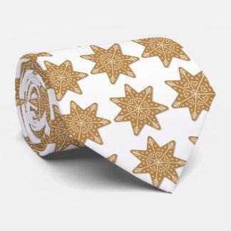 El copo de nieve del navidad forma la galleta del corbata personalizada