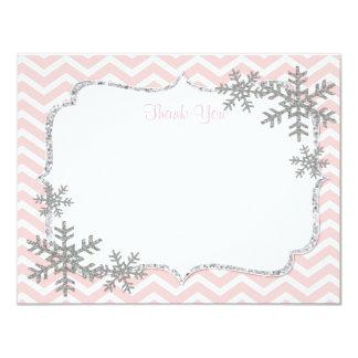 El copo de nieve le agradece las tarjetas invitación 10,8 x 13,9 cm