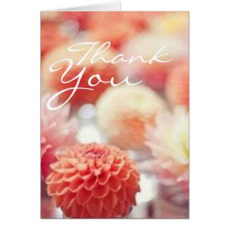 El coral florecido le agradece las notas tarjeta pequeña