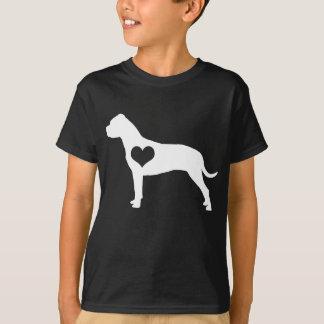 El corazón americano de Terrier de pitbull embroma Camisetas