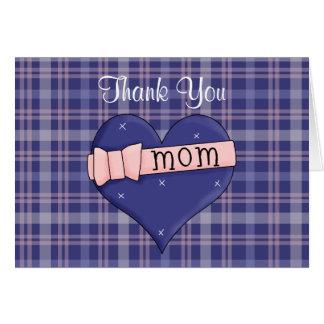 El corazón de la mamá le agradece tarjeta de nota