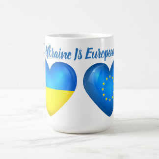 El corazón de Ucrania es taza Morphing de la