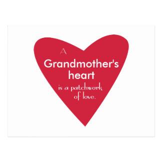 El corazón de una abuela postal