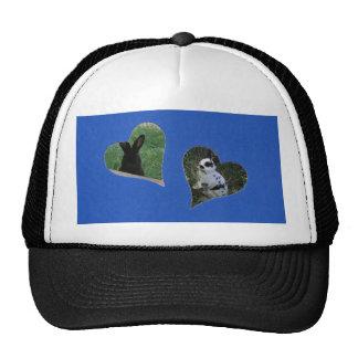 El corazón del azul dos añade el marco de la foto gorras de camionero