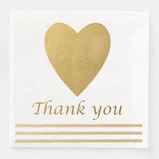 El corazón del oro le agradece servilletas de papel