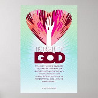 El corazón del poster de dios