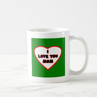 El corazón DK verde Transp llenó el GIF de Zazzle Taza Básica Blanca