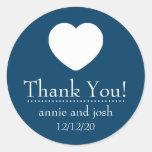El corazón le agradece las etiquetas (los azules pegatina redonda