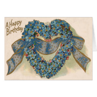 El corazón me olvida no cinta floral tarjeta de felicitación