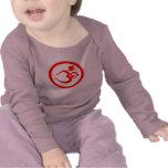 El corazón OM firma - la ropa de la yoga del bebé Camisetas