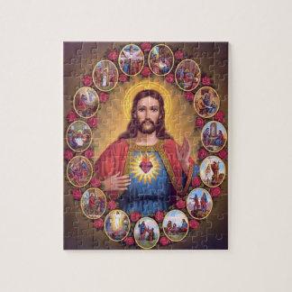 El corazón sagrado de Jesús Puzzle