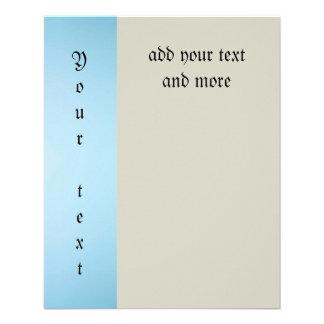 el cordón azul claro, blanco, plantilla, añade el folleto 11,4 x 14,2 cm