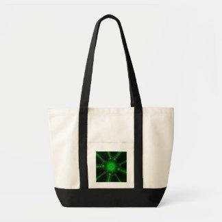 El cordón verde florece el bolso bolsa tela impulso
