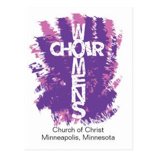 El coro de las mujeres personaliza la postal invit