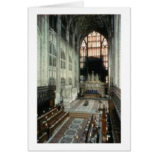 El coro y la ventana del este, siglo XII (foto) Tarjeta