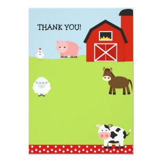El corral de la granja del granero le agradece las invitación 12,7 x 17,8 cm