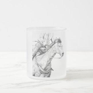 El corredor del barril taza de cristal esmerilado