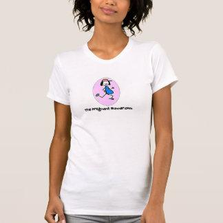 El corredor embarazada camiseta