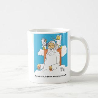 El corte de pelo de dios taza de café