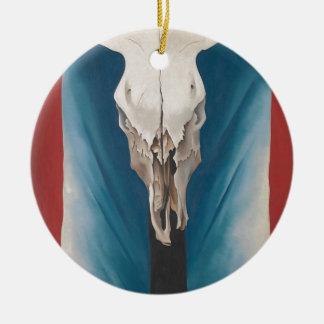 El cráneo de la vaca de Georgia O Keeffe: Rojo, Adorno De Cerámica