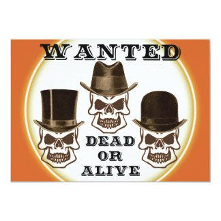El cráneo quiso la invitación muerta o viva