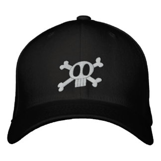 El cráneo y la bandera pirata bordaron el gorra gorras de beisbol bordadas