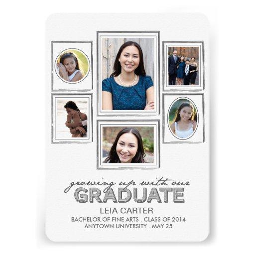 El crecer con la invitación graduada