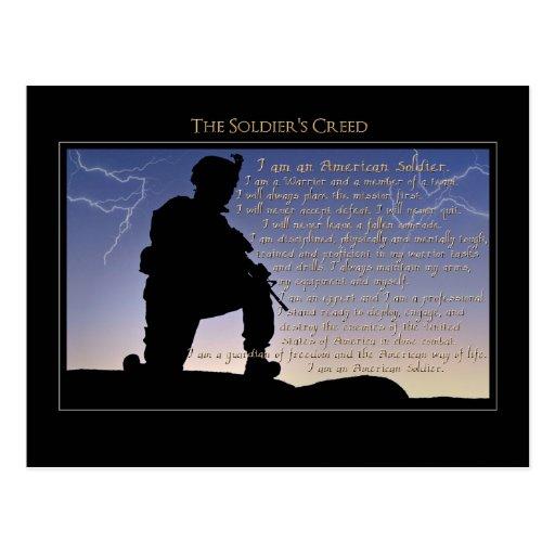El credo del soldado tarjetas postales