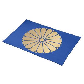 El crisantemo lunes de Kiku cepilló el falso oro Manteles Individuales