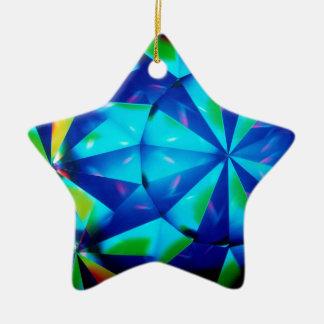 El cristal abstracto refleja al payaso ornamentos de navidad