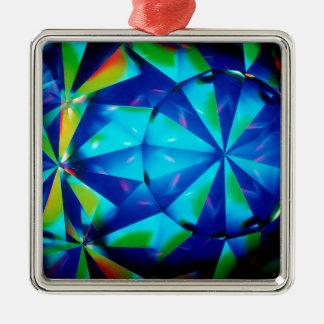 El cristal abstracto refleja al payaso adorno para reyes